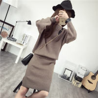 Thick wool skirt set two-piece 2018 autumn fashion suit sweater sweater net red sweater early autumn gentle wind