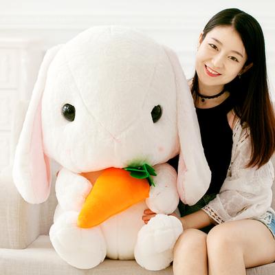 可爱垂耳兔公仔毛绒玩具小白兔子布娃娃长耳兔玩偶兔兔抱枕女生日