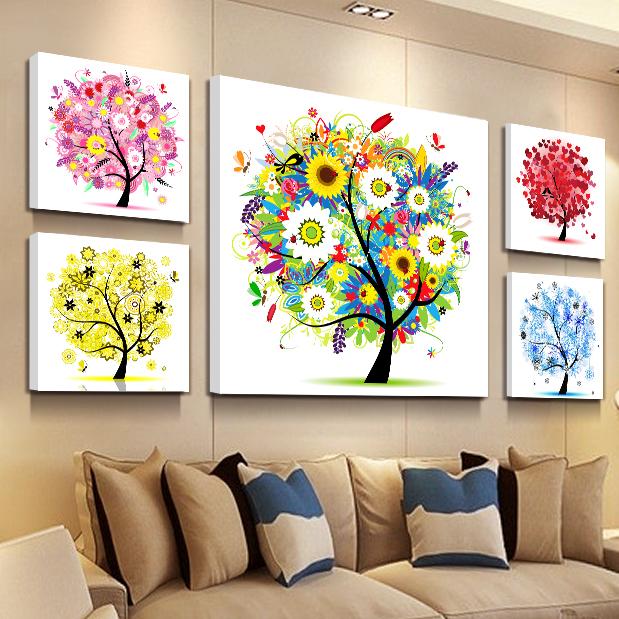 壁画幸福树