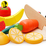 Children's cut fruit toys wooden girl can cut fruit and vegetables cut music magnetic set combination wooden
