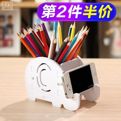 多功能笔筒创意时尚韩国小清新学生可爱卡通儿童桌面收纳盒办公室