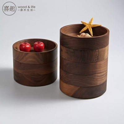 实木圆形果盘
