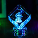 水晶魔方星座内雕十二座发光摆件