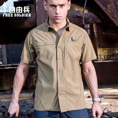 特种兵战术户外夏季吸湿排汗男短袖快干衣休闲速干衬衣衬衫男