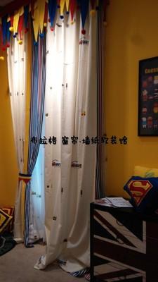 安装卡通窗帘