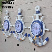 Mediterranean style home anchor Helmsman Bell Sailing rudder creative home wall hanging wall decoration clock decoration childrens room jewelry