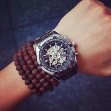 歐美潮牌原宿鏤空全自動機械表大表盤潮流商務精鋼帶男表學生手表