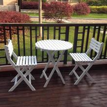实木休闲桌椅阳台折叠桌椅组合咖啡桌茶桌庭院简约桌椅新款户外桌