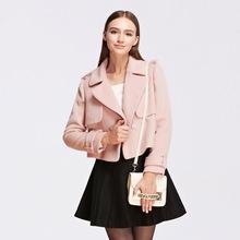 毛呢外套SD556004 长袖 双排扣短款 OSA欧莎冬季女装