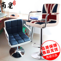 南皇吧台椅子升降椅家用现代简约酒吧椅前台靠背高脚凳休闲吧凳子