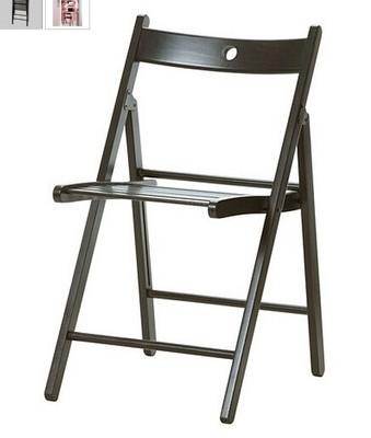 宜家家居IKEA泰耶 折叠椅实木 黑色 红色 白色 宜家国内代购在哪买