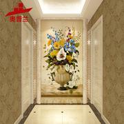 玄关瓷砖背景墙装饰画3d现代简约客厅过道电视墙砖欧式微晶石壁画