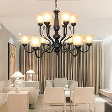 欧式铁艺吊灯个性创意大型豪华客厅餐厅灯别墅酒店美式个性灯具