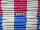 Shanghai 414 towel cotton absorbent towel wash face towel cotton blue and white striped towel red and white stripes