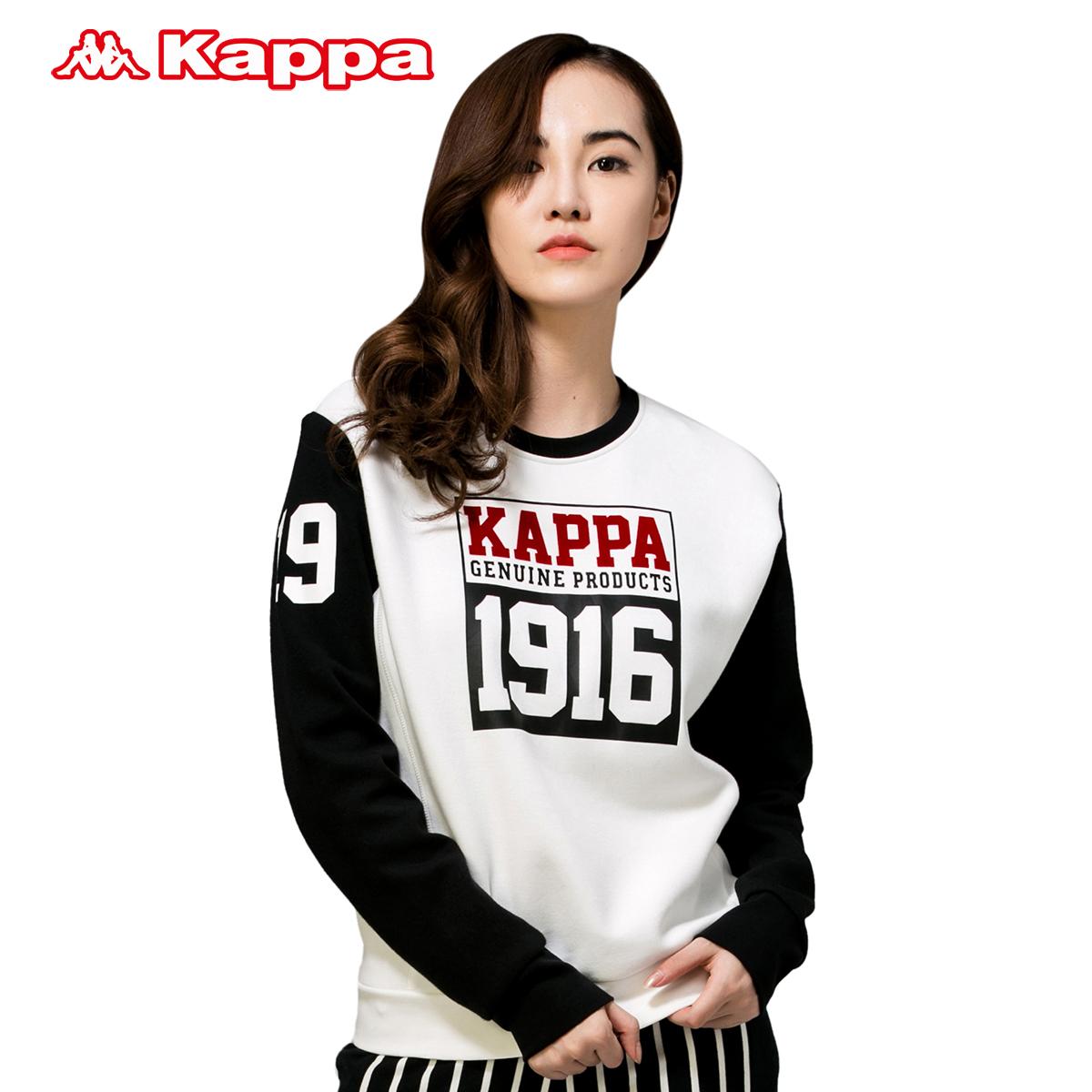 Kappa女卫衣 运动服休闲长袖上衣圆领图案套头衫 K战衣|K0562WT30