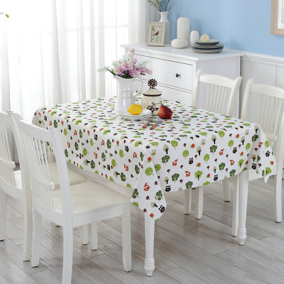 田园小清新棉麻桌布 餐桌布书桌盖布巾茶几圆桌彩色可定制