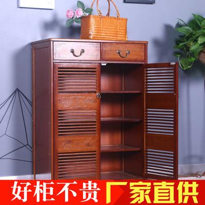 楠竹鞋柜实木简易经济型组装门厅柜客厅储物柜门口进门鞋柜大容量口碑如何