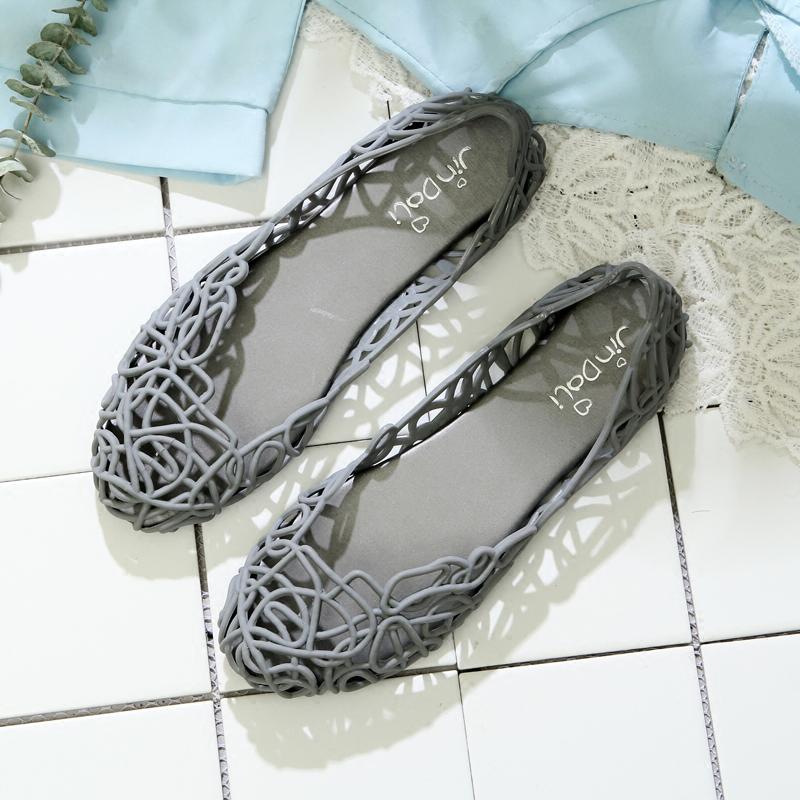 新平底鸟巢塑料镂空凉鞋女 防水舒适休闲沙滩度假洞洞鞋广场舞鞋