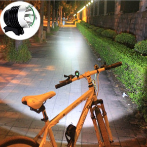 超亮 LED 强光T6自行车灯头灯USB充电L2单车灯山地车前灯手电装备