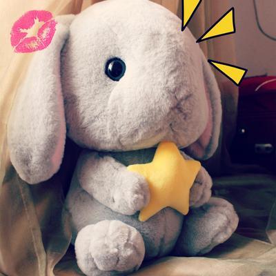 日本Loppy垂耳兔玩偶公仔毛绒玩具长耳布娃娃兔子抱枕送女生包邮