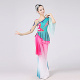 2018 new classical dance costumes female elegant fan dance square dance costume suit adult dance Yangko clothing