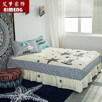 床罩床裙全棉花边床笠床单纯棉1.5m单件1.8m床群2.0M双人床防滑