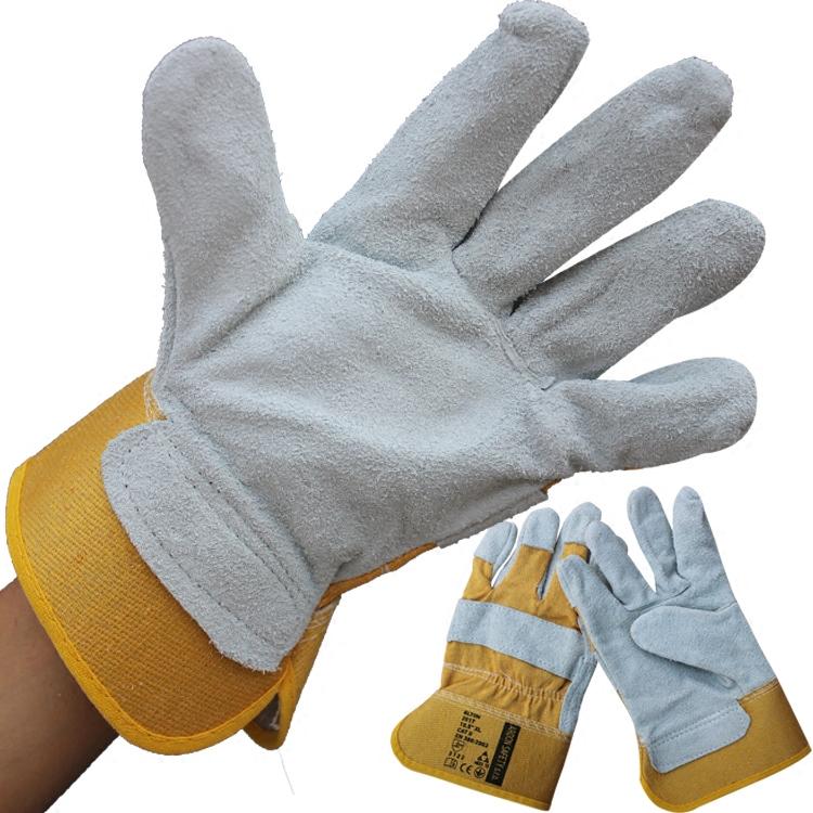 二层皮手套