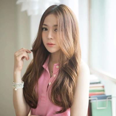 韩国女生假发中分卷发大波浪CD变装卷发长发圆脸中长发伪娘假发套