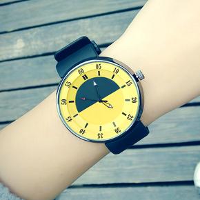手表女学生韩版简约 潮流 ulzzang休闲大气运动硅胶糖果色果冻表