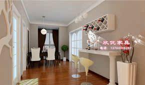 白色钢琴烤漆酒柜创意吧台现代简约烤漆吧台高档吧台个性几何吧台
