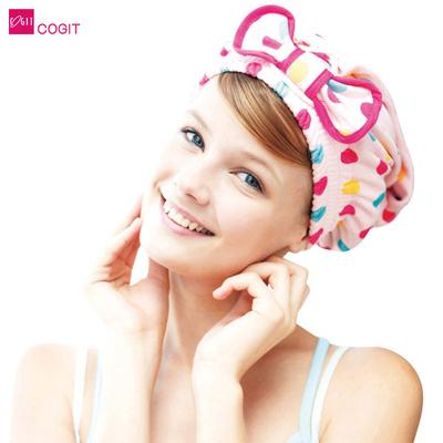 日本COGIT可爱毛毛快速干发帽 吸水力强纳米加工柔软加大加厚包邮