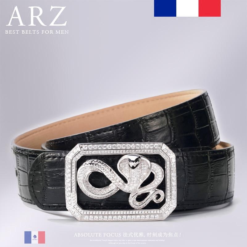 纯银皮带扣头生日礼物 品牌皮带男款奢侈品腰带时尚新款 ARZ
