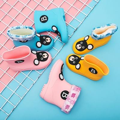 儿童雨鞋男童女童宝宝雨靴防滑公主可爱小学生水靴小孩水鞋套胶鞋