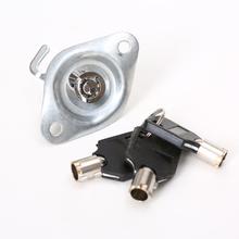 八角车位锁地锁O型停车位锁芯龙门挡车器立柱锁芯钥匙三角防水锁