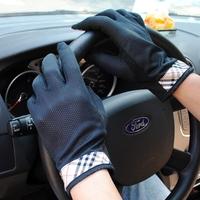 防晒手套男薄夏季个性开车防紫外线韩版户外时尚运动触屏防滑手袜
