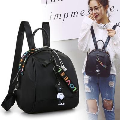 夏季女生新款女双肩包韩版时尚书包女背包牛津布学生旅行休闲包包