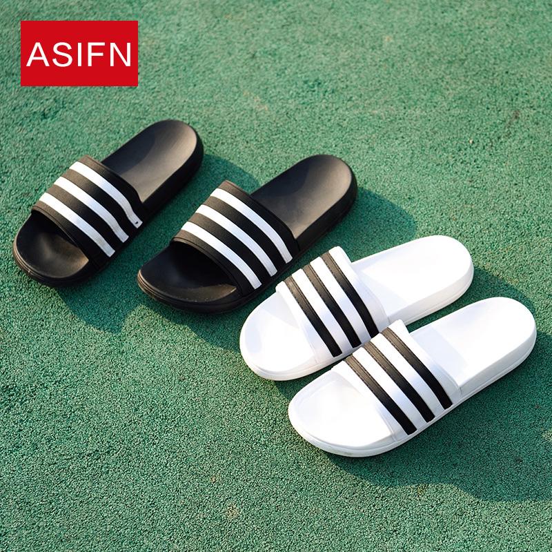 条纹塑料拖鞋