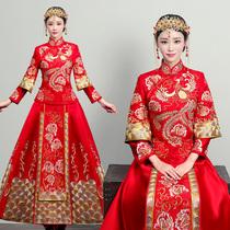 秀禾服2018新款结婚礼服新娘嫁衣敬酒服龙凤褂中式婚纱旗袍秀和服