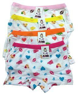 儿童莫代尔女童内裤裙子打底裤安全短裤宝宝卡通平角内裤8条包邮