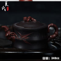 Yixing monopoly famous teapot full of handmade authentic ore purple clay red bamboo section pot special shipping