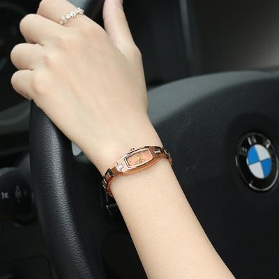 正品超薄防水手表女士腕表石英女钨钢女表男情侣潮流学生手链手表