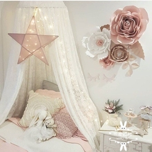 INS Nordic Children's Room Decoration Exclusive Customized Lace Princess Wind Baby Dome Mosquito Net Hanging Bed Curtain Bed Curtain Bed Curtain