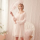 Pregnant women's pajamas, women's spring, autumn and moon clothes, postpartum suckling dresses, summer long thin household clothes