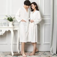 Summer thin section nightdress couple nightgown girls pajamas absorbent bathrobe fat mm bathrobe men's home service makeup dressing gown