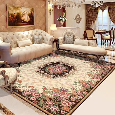 多尼尔棉丝地毯欧式中式美式田园日韩地毯茶几垫客厅地毯可水洗