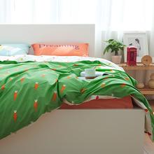 个性混搭四件套 简约纯棉套件 学生儿童宿舍床品床单被套4件套