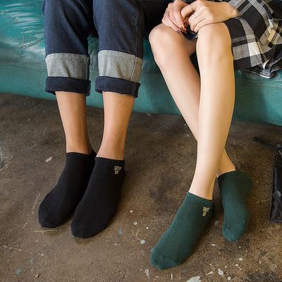 淇殿天下7双装星期7日袜子 情侣运动短袜  男女款棉袜 低腰船袜子