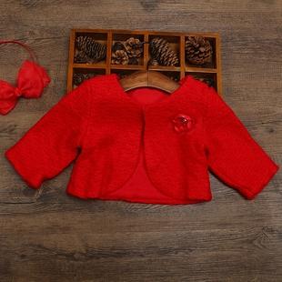 女童秋冬款毛线衣0-3岁宝宝短款小外套披肩披风百搭长袖开衫坎肩