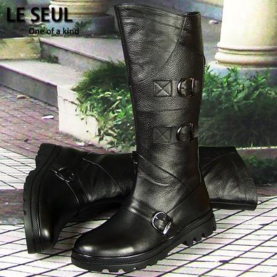 马靴男靴子高筒全真皮牛皮阅兵靴 仪仗队靴 男长靴骑士用皮靴