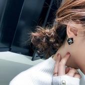 耳环韩国简约百搭耳饰品个性吊坠潮人创意耳坠大气长款气质耳钉女